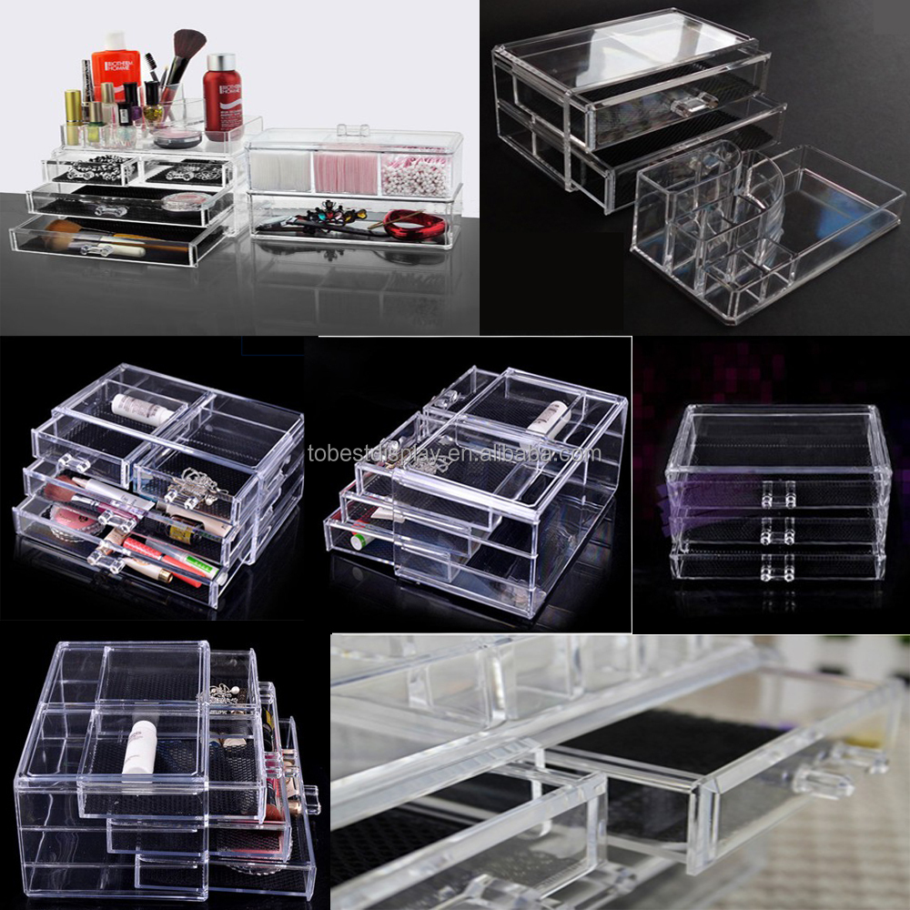 Cheap Acrylic Makeup Organizer With Drawers,Acrylic Cosmetic Organizer - Buy Acrylic Makeup ...