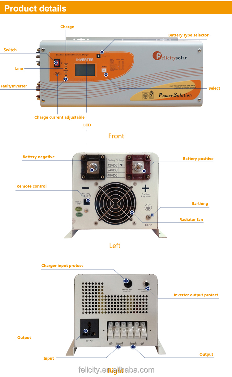 High Quality Efficiency 35kw Off Grid Pv Pure Sine Wave Solar Diagram Of The Puresinewave Inverter Within An Offgrid System For