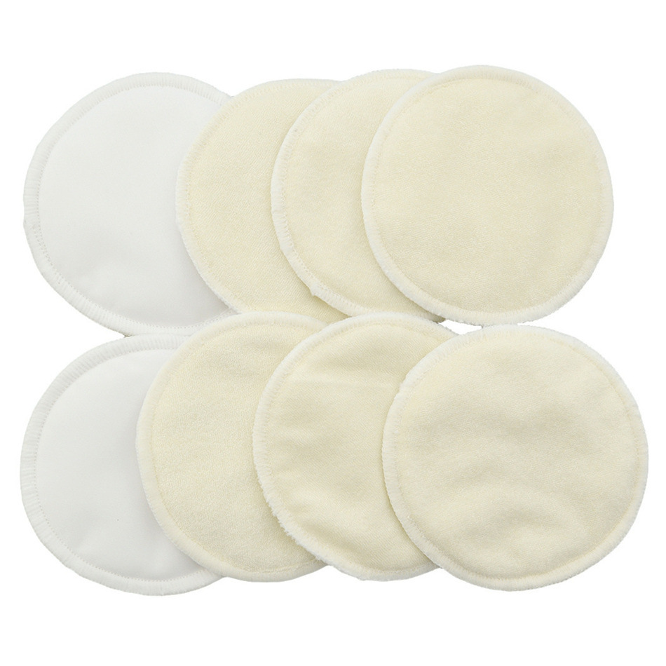 Bamboo Nursing Pads Reusable Absorbent Breast Pads 3 Layers Waterproof Breastfeeding Pads For Women US EU sizing