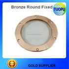 China marine ship fixed porthole bronze round boat fixed porthole boat nautical brass fixed porthole mirror