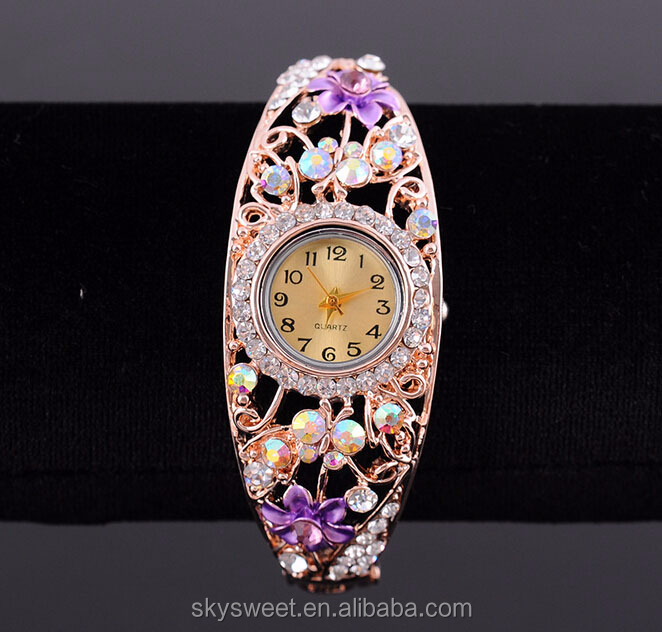 Mix wholesale available colored drawing women bracelet watches,special gift for ladies(SWTPR1090)