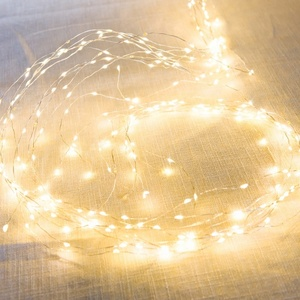 Solar Powered Outdoor Patio Christmas Copper Wire LED String Lights