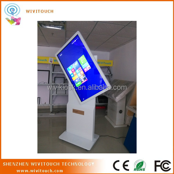 horizontal/vertical screen interactive information/advertising kiosk