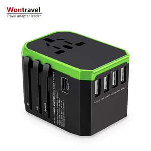 Travel plug adaptor Type-C charger 5.6A USB quick charge adapter universal multi plug socket