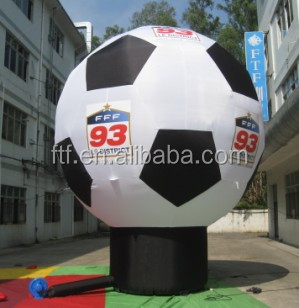 inflatable football model ground balloon for promation