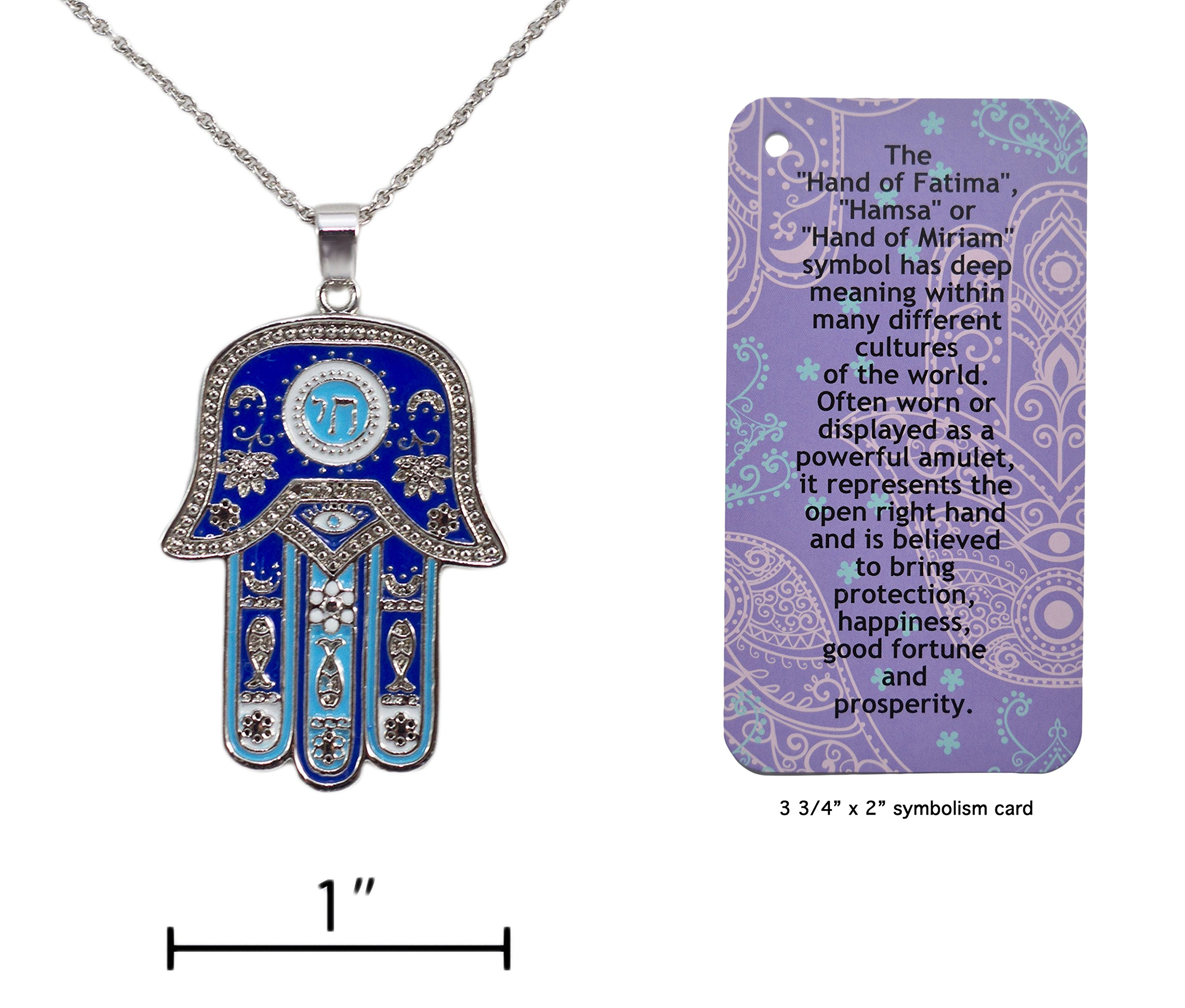 Cheap symbol good luck find symbol good luck deals on line at hamsa hand of fatima symbol good luck charm necklace with informational card buycottarizona Image collections
