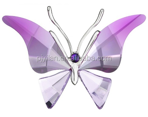 elegant sapphire crystal glass butterfly for wedding favor crystal butterfly gift