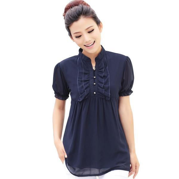 c50a4c6188f85 Buy Brand New Ruffled Collar Women Chiffon Shirts Summer Tops Plus Size  M-3XL Super Quality Breathable Design Lady Blouses in Cheap Price on  Alibaba.com