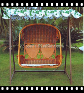 Patio Garden Furniture/ Luxury Loveseat Swing Hanging chair/ 2 seater swing