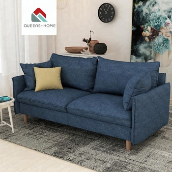 Queenshome Furniture Manufacturers Buying Furniture For Home In China House  3 Seater Furini Sof Fabric Sectional Blue Sofa Set - Buy Furniture ...
