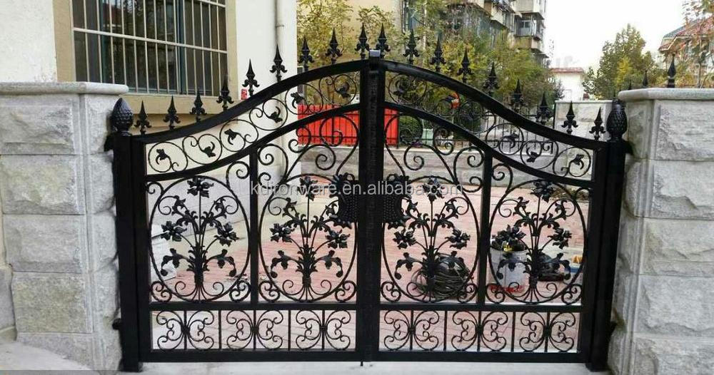 Popular Chinese Kaida Factory Wrought Iron Designs Of Iron Gates, Wrought Iron  Designs Of Main