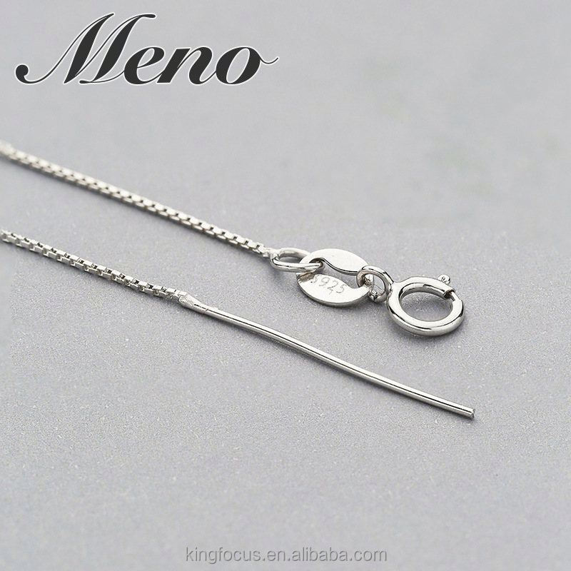 Meno S925 silver 07 box chain necklace jewelry gift
