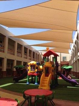 Estructura De Sombra Para Los Ninos Jugando Parques Infantiles Y