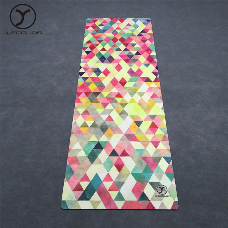 Hersteller Überlegene Materialien Natur kautschuk Sublimation Top-Qualität Custom Print Umwelt freundliche OEM Wildleder Hot Yoga Mat