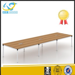 Boardroom Long Desk Rectangular Modular Conference Meeting Table with Metal leg