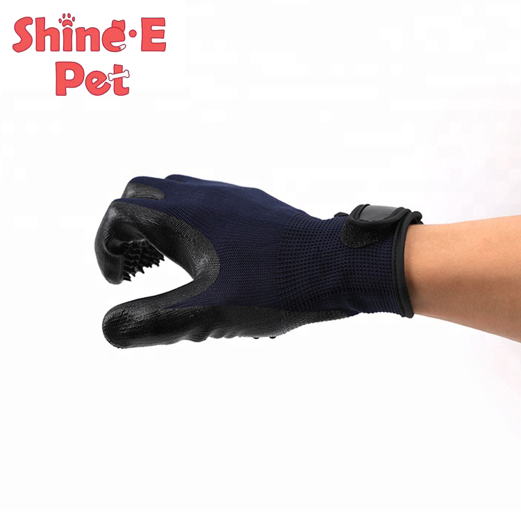 Custom Hair Remover Pet Grooming Glove with Five Fingers