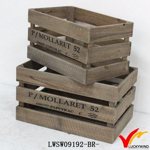 Provincal Chic Reclaimed Barn Wooden Fruit Crate Box