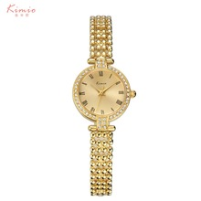 Fashion ladies value pearl wrist watch manufactures China gold tone watch