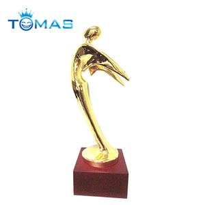 Novelty direct factory made award metal trophy custom metal angel figurine