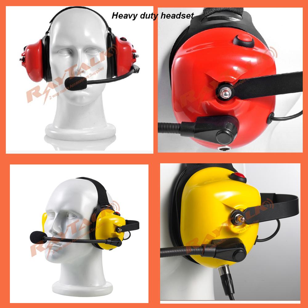 Heavy Duty Noise Reduction Headset For Motorola Walkie Talkies ...