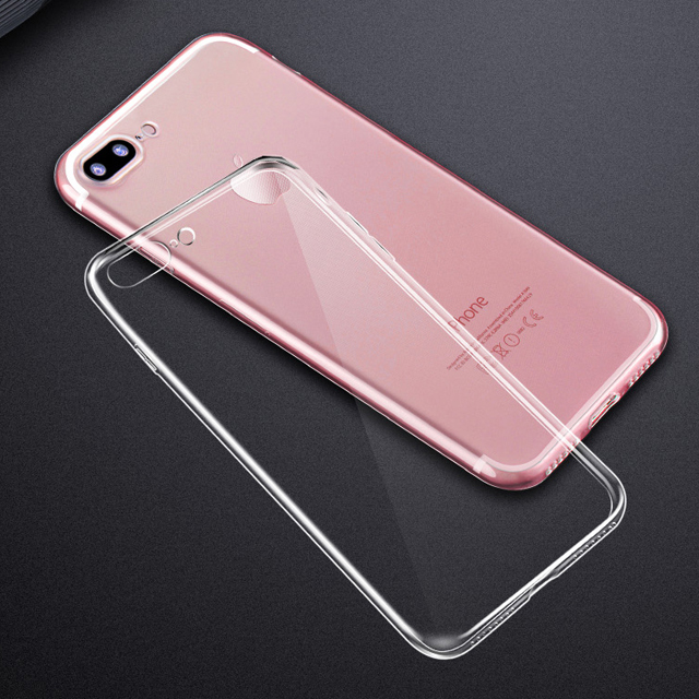 Crystal Clear Invisible TPU Silicone Case for iPhone 7 7plus Cellphone Protective Cover Case