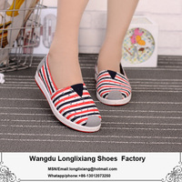 Factory direct sale promotion ladies classic canvas shoes ship a variety of design