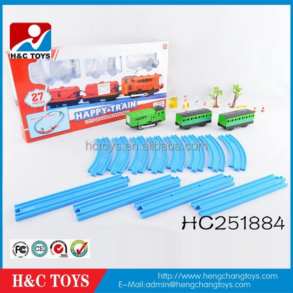 2015 Plastic toy train tracks parking lot set baby toys with passenger car HC251884