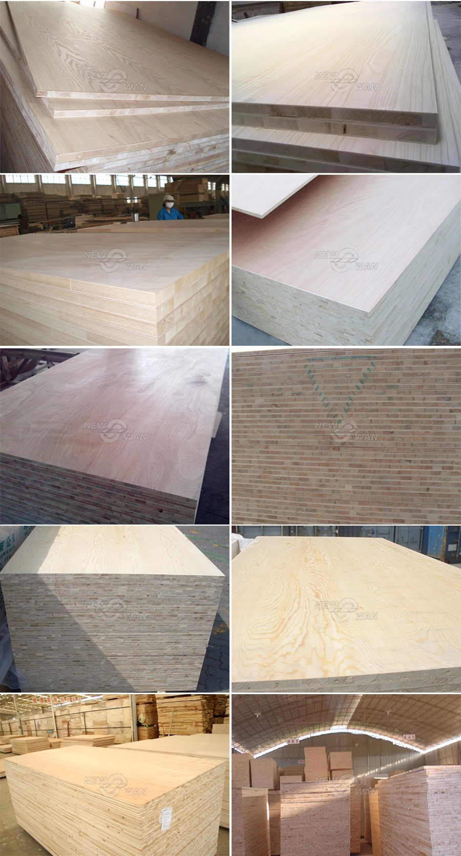 Commercial Block board / 12mm Block board Poplar , Pine Core