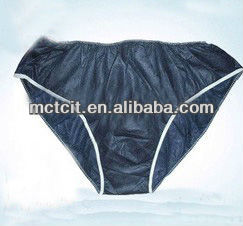 Disposable black,navy nonwoven unerwear for SPA,patient underwear/nonwoven briefs
