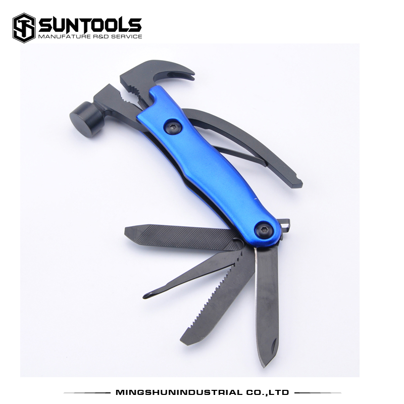 Hot-sale multi-function hammer black oxidation finish Outdoor Survival hammer