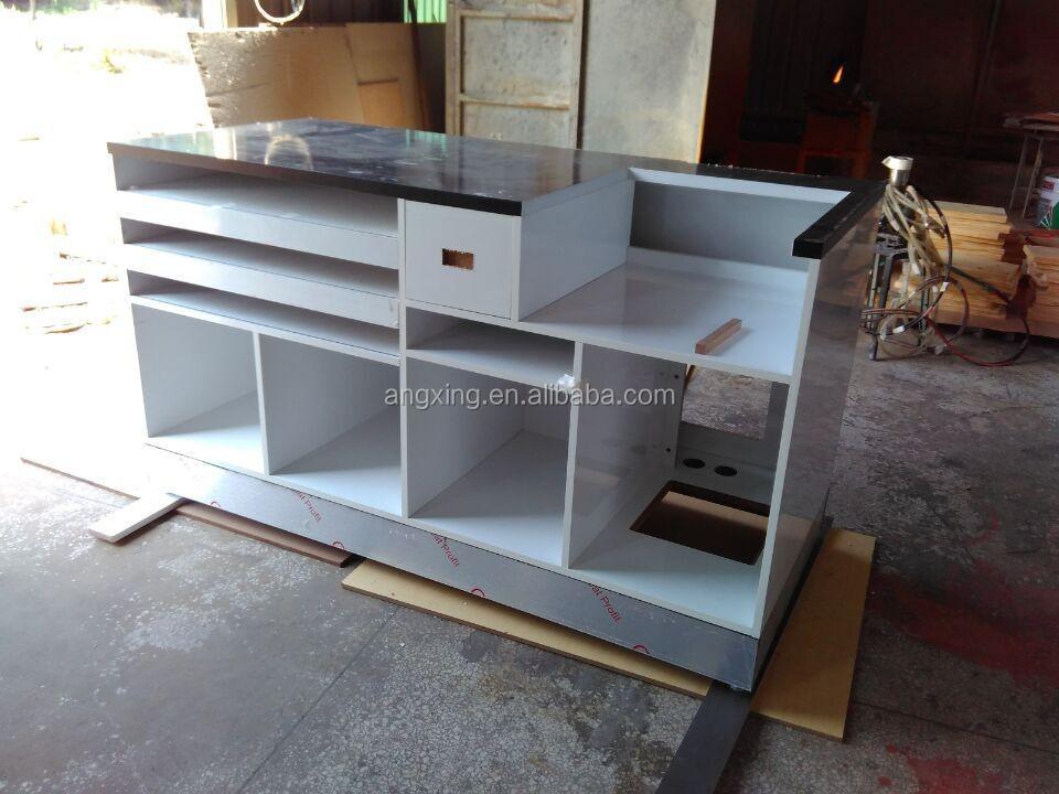 Wood cash counter design