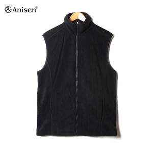Bulk wholesale windbreaker custom blank fleece vest sleeveless winter mens vest