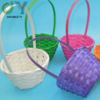 Custom Easter decoration gift Bamboo woven basket