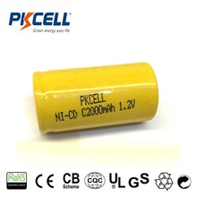High Power Type Nicd C 1.2V Battery High Capacity 2500mAh 1.2V Rechargeable Batteries