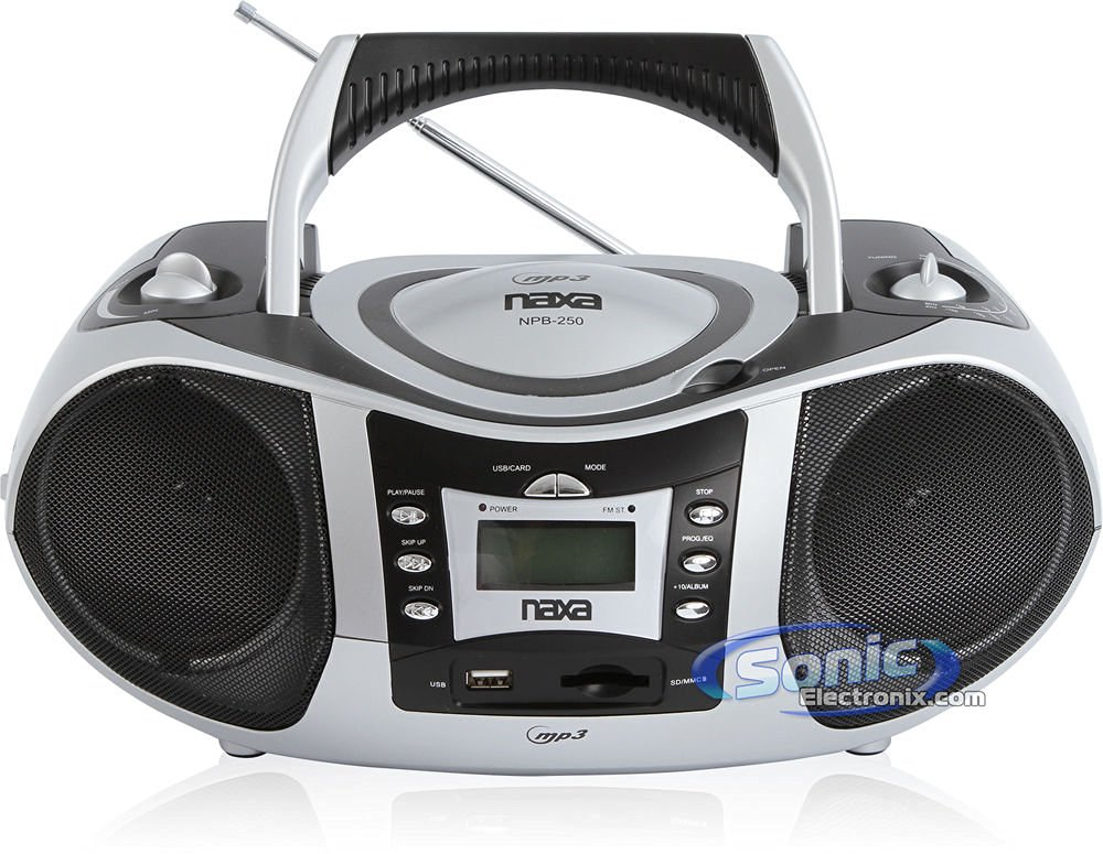 Naxa Naxa Npb-250 Portable Mp3/cd Player With Text Display, Am/fm Stereo Radio, Usb Input & Sd/mmc Card Slot
