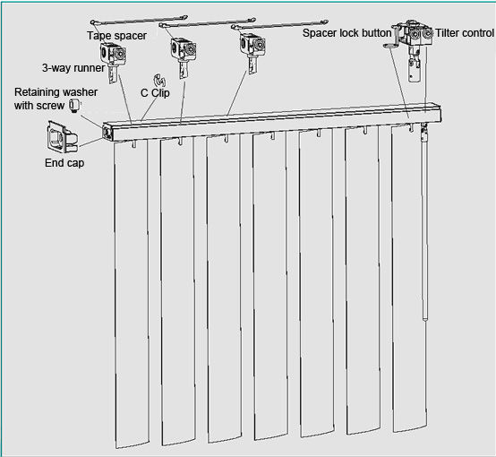 depot blinds for wand levolor replacement parts vertical kit home repair blind plastic headrail