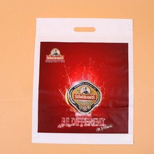 Large Merchandise Bags with handle Frosted Plastic Gift Bags Retail Clothing Shopping Bags