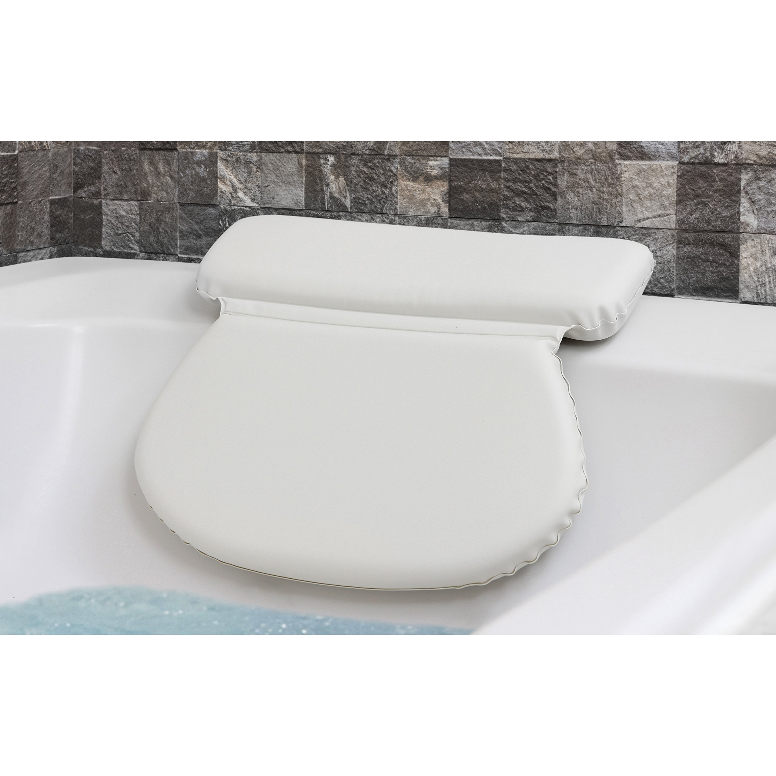 Buy Epica 2X-Thick Luxury Spa Bath Pillow, SuperGrip Suction Cups in ...