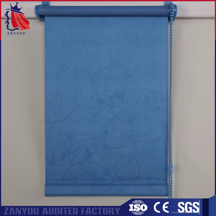 Facric Suede fashion style rolling curtain and roller blinds