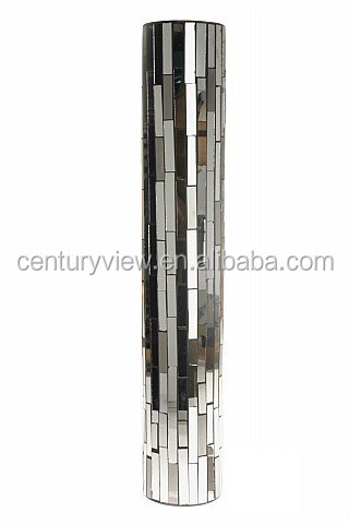mirror vase. glass mosaic mirror vase silver wholesale vases a