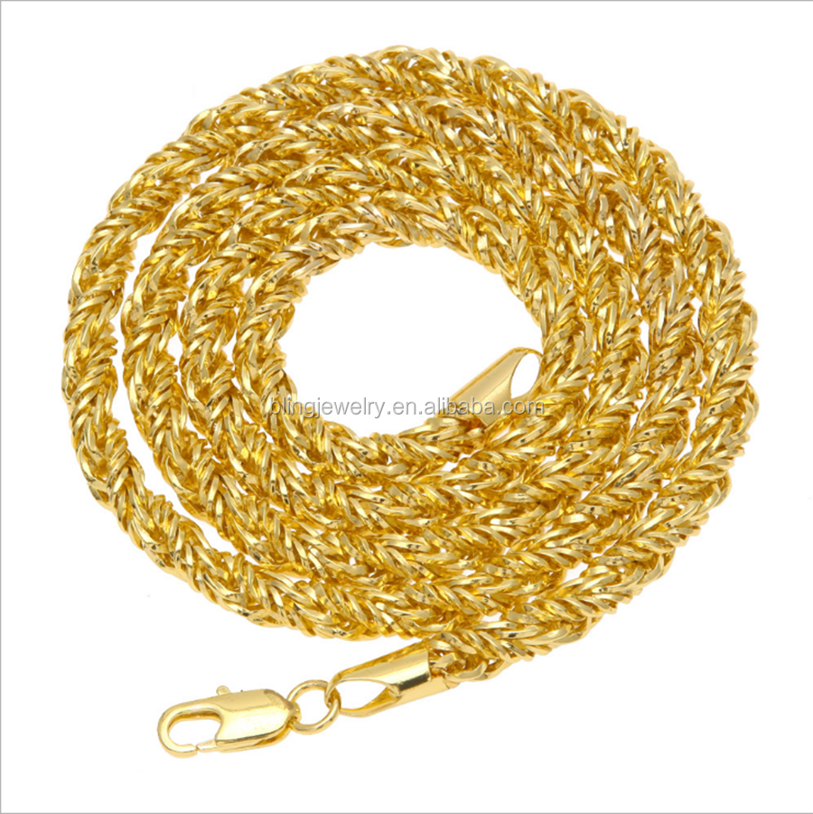 18K Gold 30Inch Rope Chain