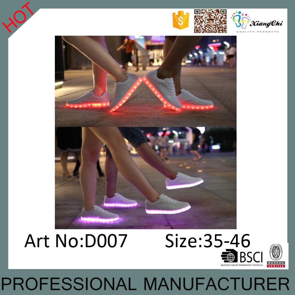 App Intelligente Commercio All'ingrosso Della Cina Di Simulazione 7 Colori Della Luce Bianca Led Scarpe Per Adulti Buy Light Up Scarpe Per