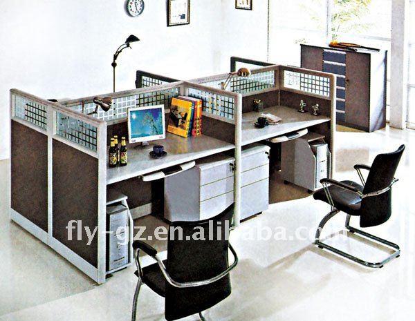 Media oficina moderna cub culos partici n oficina muebles for Cubiculos de oficina