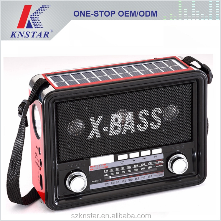AM FM new style radio with solar panel /USB TF/AUX IN
