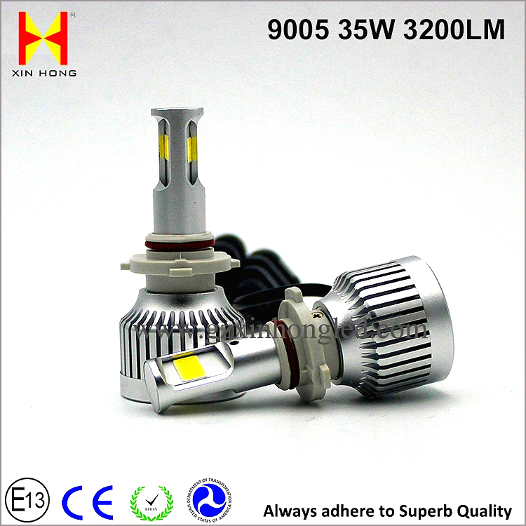 Hot sales unique Auto Accessories 9006 Car Led Headlamp 35W 6000K 4500K 3200LM 40W 55W 9005 LED Headlight Universal 12V 24V