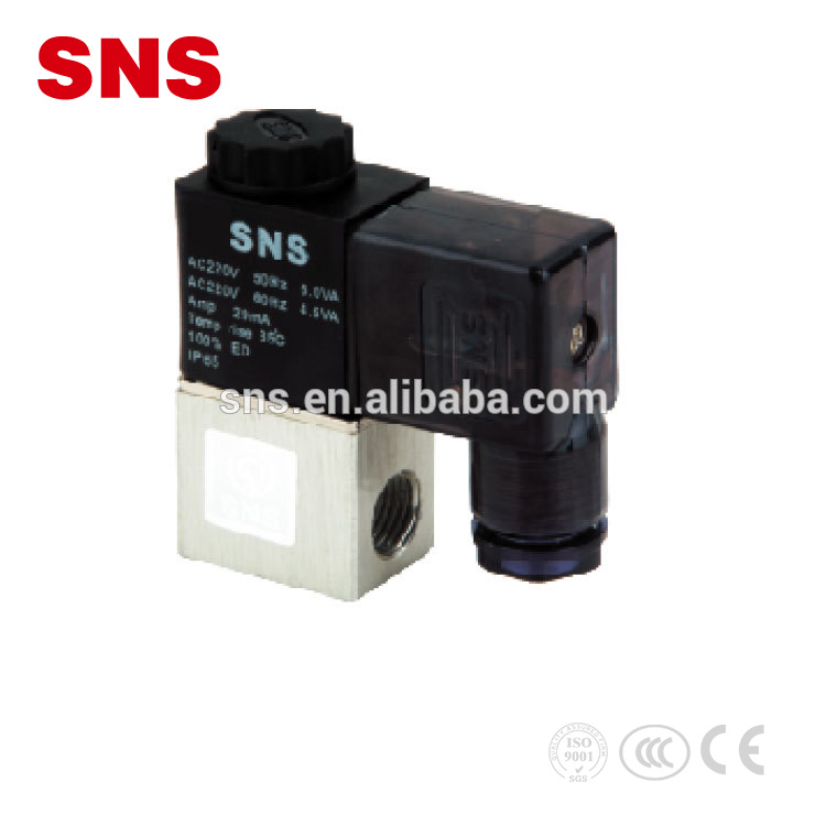 "SNS (2V Series) Aluminum Alloy Direct-acting Type 1/4"" Pneumatic Air Solenoid Valve With NBR Seal"