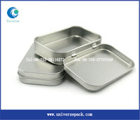 Plain small tin lunch box for customized