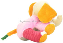 Hot sale high quality Cute Plush Colorful Elephant Soft Stuffed Wild Animal Toy With Big Ears,Pink Bear