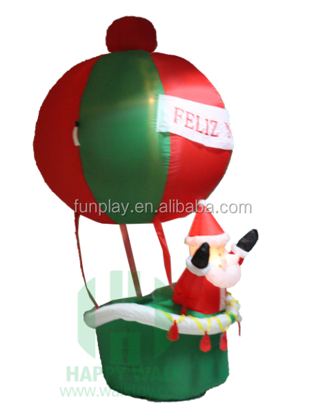 CE Light hot sale cheaper inflatable yard christmas decoration balloon with santa claus Inflatable Father Christmas Decoration
