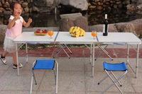 NEW Aluminum Portable Folding Camp Outdoor Indoor Garden Beach Sports Picnic Camping Fold Up Desk Table